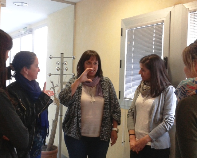 Algunos Agentes de Innovación Local de Guadalinfo durante la sesión presencial del curso en LSE