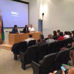 (Izda a dcha) Álvaro Simón, (Dtor BIC Euronova); Mariano Ruiz, (delegado territorial de Economía, Innovación, Ciencia y Empleo en Málaga) e Ismael Perea, (Dtor Gral CFR) dando la bienvenida a los participantes.