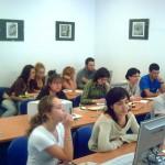Jóvenes en un centro Guadalinfo