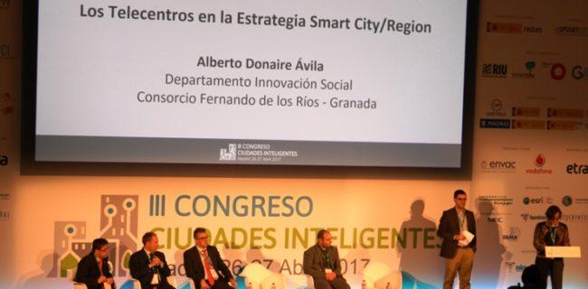 Momento de la intervención de Alberto Donaire (CFR) en el congreso Ciudades Inteligentes